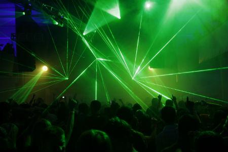 laser beams at disco